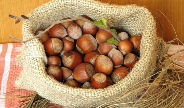 Орешки фундук в мешке