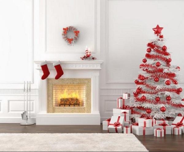 Красно белая новогодняя елочка