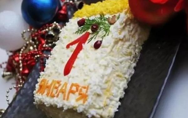 Что приготовить на Новый год: салат с плавленным сыром