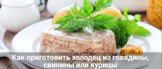 Как приготовить холодец из говядины, свинины или курицы на Новый год 2021