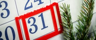31 декабря 2021 рабочий или выходной день в России официально