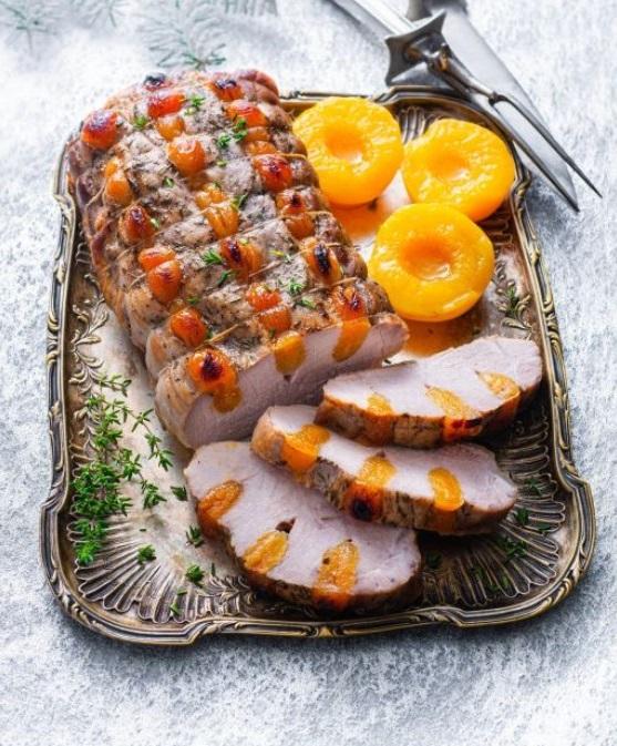 Что готовить на Рождество: ветчина с абрикосами