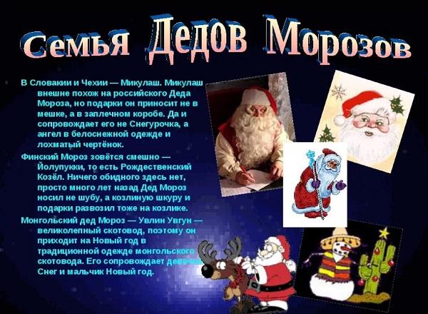 Дед Мороз в других странах